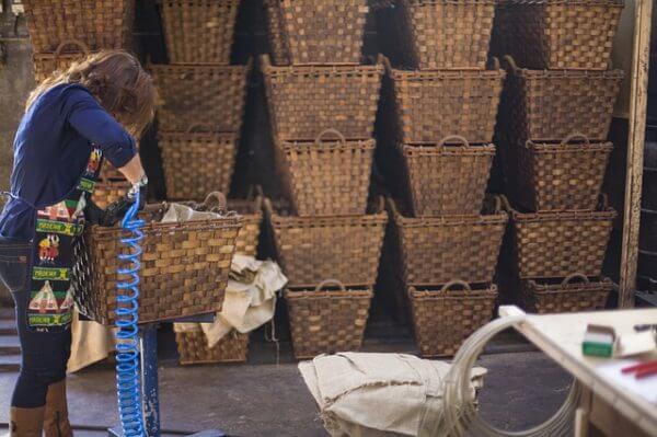 cestos de mimbre artesanal